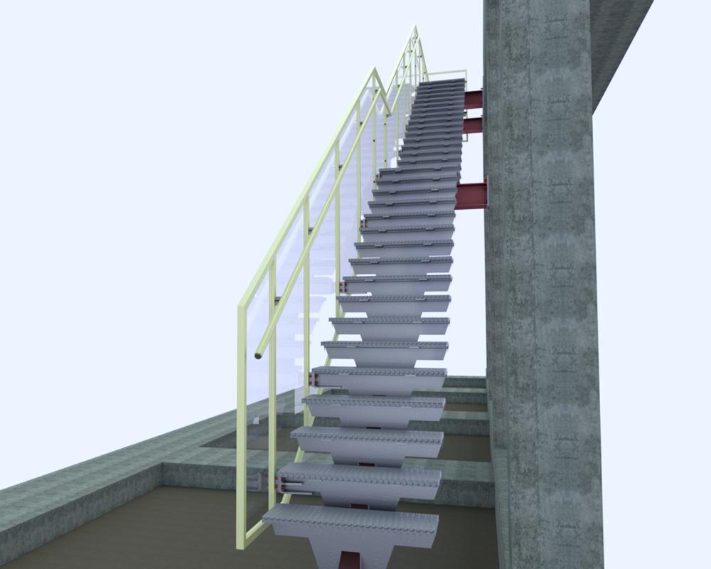 Ellipse center outdoor stair