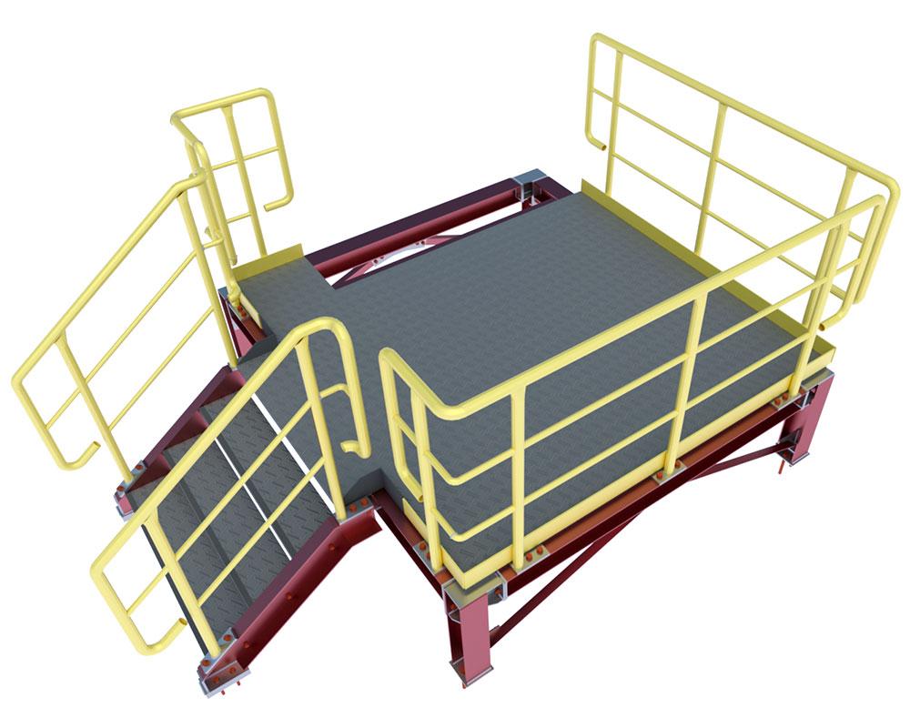 Steel miscellaneous – platforms, ladders, railings, cranebeams,  etc.