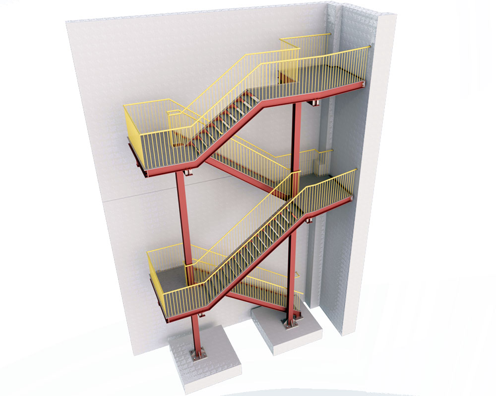 Evacuation staircase